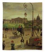 La Place De La Concorde Fleece Blanket