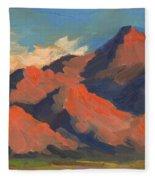La Quinta Mountains Morning Fleece Blanket
