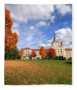 La Roche College On A Fall Day Fleece Blanket
