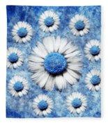 La Ronde Des Marguerites - Blue V05 Fleece Blanket