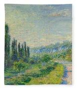 La Route De Vetheuil Fleece Blanket