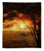 La Savana Al Tramonto Fleece Blanket