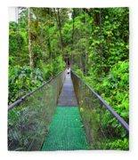 La Tirimbina Suspension Bridge Fleece Blanket