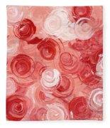 La Vie En Rose Fleece Blanket