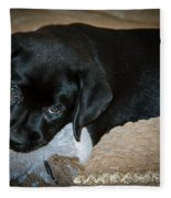 Labrador Puppy Fleece Blanket