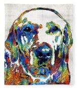 Labrador Retriever Art - Play With Me - By Sharon Cummings Fleece Blanket