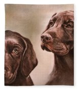 Labrador Retrievers Fleece Blanket