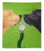 Labs Like To Share 2 Fleece Blanket