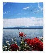 Lac Leman - Switzerland Fleece Blanket