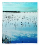 Lacassine Nwr Blue Pool Fleece Blanket