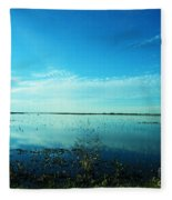 Lacassine Nwr Pool Blue And Green Fleece Blanket