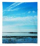 Lacassine Pool Louisiana Afternoon Fleece Blanket