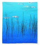 Lacassine Pool Reeds Fleece Blanket