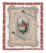 Lace And Roses Fleece Blanket