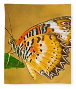 Lacewing Butterfly Cethosia Sp Fleece Blanket