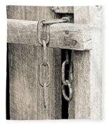 Ladder Chain Bw Fleece Blanket