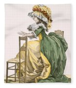 Ladies Elaborate Gown, Engraved Fleece Blanket