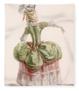 Ladies Evening Gown, Engraved By Dupin Fleece Blanket