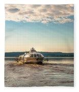 Ladoga Lake Transfer Fleece Blanket