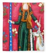 Lady And The Unicorn La Pointe Fleece Blanket
