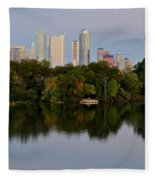 Lady Bird Lake In Austin Texas Fleece Blanket