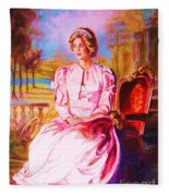 Lady Diana Our Princess Fleece Blanket