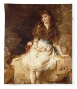 Lady Edith Amelia Ward Daughter Of The First Earl Of Dudley Fleece Blanket