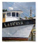 Lady Eva Shrimp Boat Fleece Blanket
