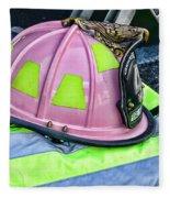Lady Firefighter Fleece Blanket