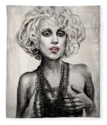 Lady Gaga Fleece Blanket