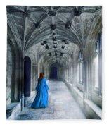 Lady In A Corridor Fleece Blanket