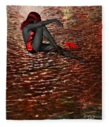 Lady In The Lake Fleece Blanket