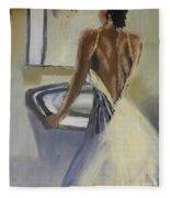 Lady In The Mirror Fleece Blanket