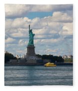 Lady Liberty And Water Taxi Fleece Blanket