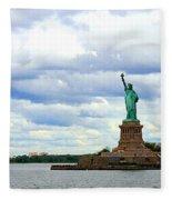 Lady Liberty B Fleece Blanket