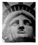 Lady Liberty In Black And White1 Fleece Blanket