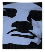 Lady Liberty In Dark Cyan Fleece Blanket