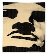 Lady Liberty In Dark Sepia Fleece Blanket