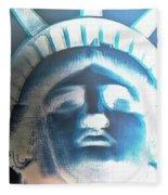 Lady Liberty In Negative Fleece Blanket