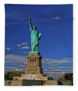 Lady Liberty In New York City Fleece Blanket