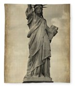 Lady Liberty No 11 Fleece Blanket