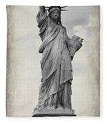 Lady Liberty No 6 Fleece Blanket