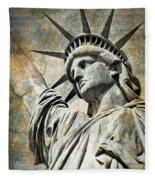 Lady Liberty Vintage Fleece Blanket