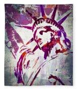 Lady Liberty Watercolor Fleece Blanket
