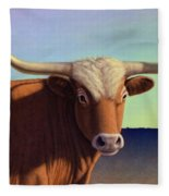 Lady Longhorn Fleece Blanket