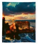 Lady Of The Ocean Fleece Blanket