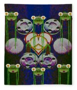 Lady Panda Welcomes Spring In Love And Light And Peace Fleece Blanket