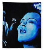 Lady Sings The Blues Fleece Blanket