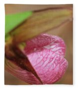 Lady Slipper At Moore State Park Close Up 1 Fleece Blanket