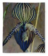 Lady Slipper Secret Garden Fleece Blanket